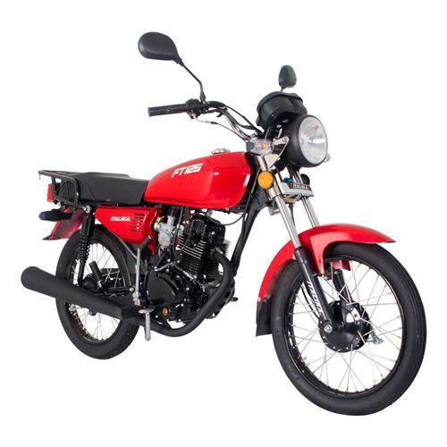 Motocicleta de Trabajo Italika FT125 Roja