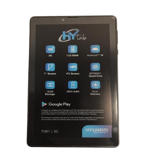 Tablet 7 Pulgadas Hyundai 1gb 16gb Mod. Hytab7