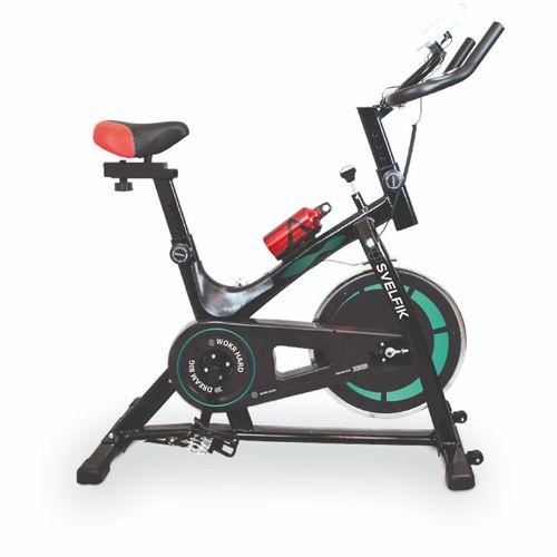 Bicicleta Para Hacer Ejercicio Spinning Fija Estática 6kg Verde