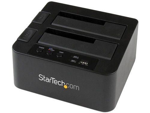 Base USB 3.0 y eSATA Copiadora de Unidades de Disco SATA con Clonador