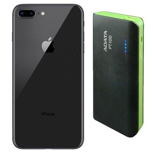 iPhone 8 Plus Reacondicionado 64gb Negro + Power Bank 10,000mah