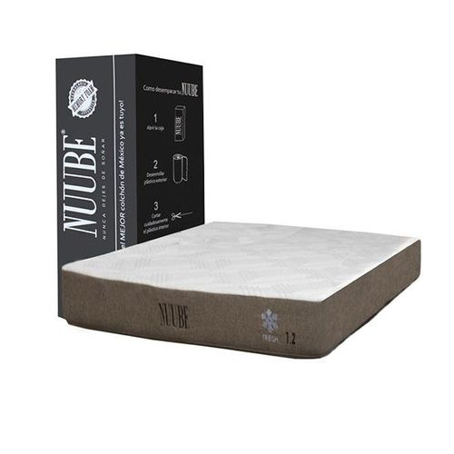 Colchón Memory Foam Matrimonial Nuube 1.2, empacado en caja..