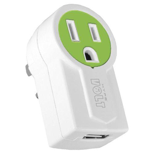Hype Adaptador USB con Conector Giratorio - Verde