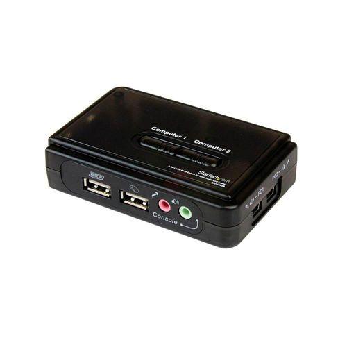 StarTech Juego Conmutador KVM 2 puertos USB Audio y Vídeo VGA