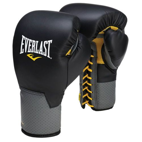 Guantes Everlast Pro Leather C3 Negro con Gris 12 oz