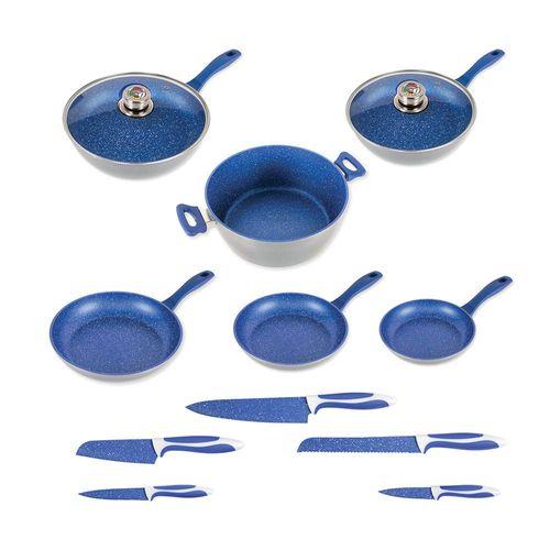 Batería de Cocina FlavorStone Family Set 13 pzs Azul