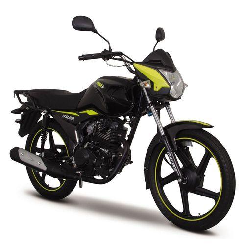 Motocicleta de Trabajo Italika FT150 TS Negra con Amarillo