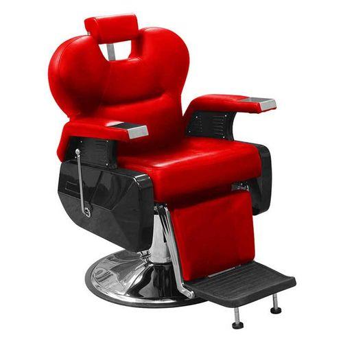 Sillón hidráulico para barbería y peluquería rojo