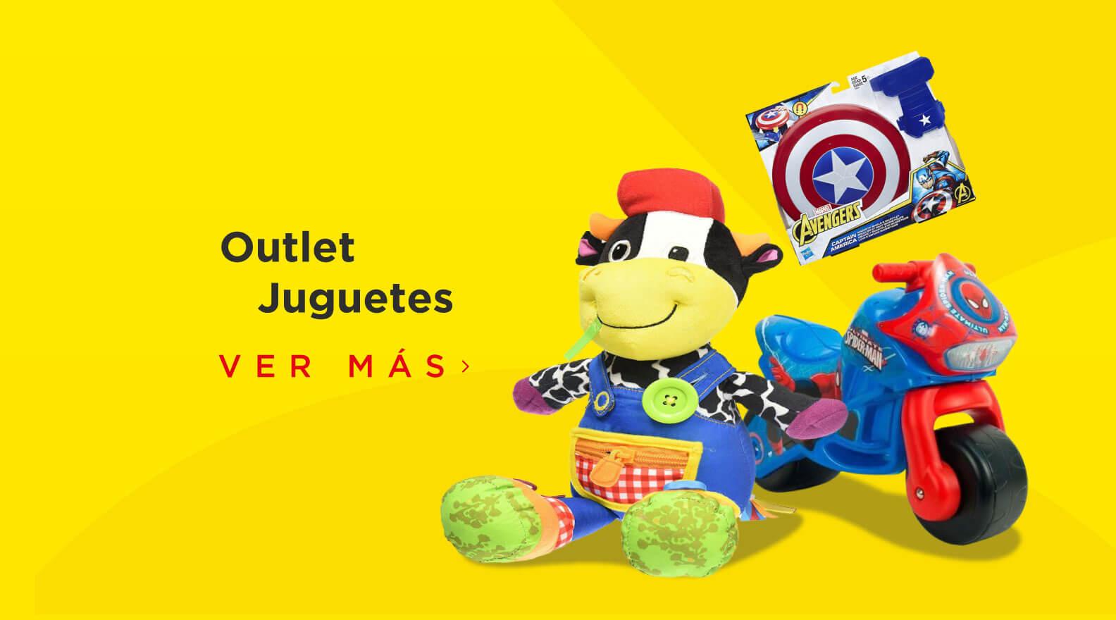 Outlet de juguetes para niños y niñas, encuentra variedad de muñecas, muñecos de acción y todo para la diversión de tus hijos.